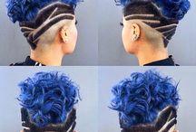 Modré vlasy