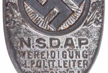 Nazi flags and badges