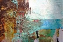 DAILY EXCAVATIONS...with paint, papers, own repurposed work, my journal writings...