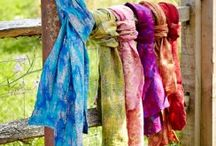 Our new Sadhna & Yamala Scarves! /  Yamala: Our new gorgeous felt and silk scarves are handcrafted by our producers in Kathmandu, one of the leading Fair Trade felt companies in Nepal. Recycled silk is overlain with brushstrokes of felt to create rich textures and colours and a luxurious feel.     Sadhna: Handmade by our newest producers, Sadhna, these beautiful cotton scarves have been hand loomed, and the applique work has been hand cut and finished by women employed and supported by Sadhna using Fair Trade hands.