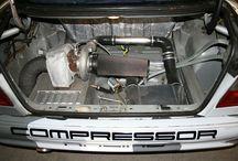 Rear turbo