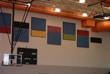 Gymnasium Inspiration / Tectum Interior Wall Panels offer an effective, permanent and attractive solution for any kind of activity that produces undesirable noise levels within an enclosed space. They are abuse-resistant and are able to withstand repeated impact, yet are lightweight. Tectum Interior Wall Panels are easy to install in new construction and in existing buildings for effective sound control.