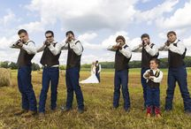 Fun Wedding Photo Ideas / Always looking for some fun photos to do with your wedding party and others? Take a look at some of the ideas and fun that we've had!