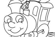 Vonatos színező