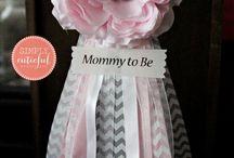pink and grey babyshower