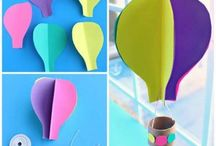 Hot air balloon craft / This page has a lot of free Hot air balloon craft idea for kids,parents and preschool teachers