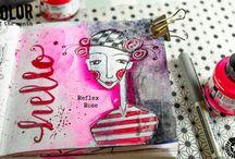 Colour - Acrylic inks