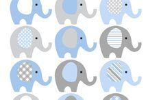 little elephant baby shower