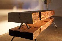 Diseños interesantes / Mobiliario/ Rustico/ madera / Mesas, sillas, madera, hierro, concreto....puro diseño