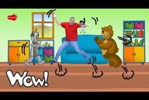 English for kids - Actions / Educational and entertaining interactive materials for kids pratising verbs of action like jump, fly, swim etc. Watch the stories with Steve and Maggie, have fun and learn at the same time! If you want to see more visit free YouTube channel Wow English TV: https://www.youtube.com/c/WOWENGLISHTV