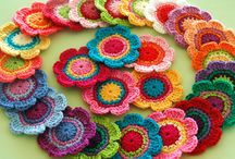 Crochet flowers and garlands