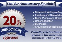 Anniversary / It's our 20th Anniversary!  We are offering anniversary discounts throughout the year.  Call today!