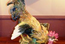 Rooster massier majolica