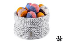 Dog toys baskets by LILLY PET SHOP / Handmade Home Decor Pet Accessories
