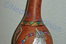 Gourd Ornaments / Gourd ornaments are not just for Christmas!