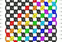 Bracelets amitié multicolores