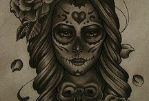 mexikanischer totenkopf tattoo