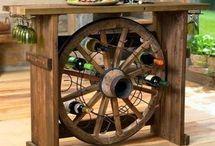 décor avec des roues