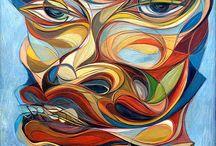 "Saatchi Online Artist: Takahiro Kimura; Oil 1996 Painting ""FACE W1"""
