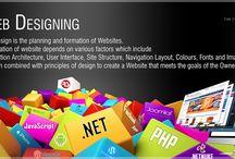 Web Designing Services / Web design is the planning and formation of websites.  The creation of website depends on various factors which include information architecture, user interface, site structure, navigation layout, colours, fonts and imagery. It is then combined with principles of design to create a website that meets the goals of the owner and designer.