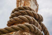 Ropes, knots, sailing. Inspiration.