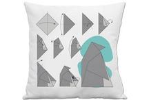 Pillows / Modern, contemporary, whimsical or original / by Melanie Saucier