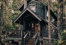 Black and white cabin life / Aaaaww, these cozy autumn and winter days in the woods! Late in the afternoon you get back to the cabin, take a cozy blanket, you're favorite cup filled with hot tea, and sit down by the fire place. Life's good.