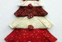 Ajtódísz négyzetekb. karácsonyi