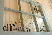 Old Window ideas / by Tina Fields