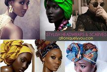 NATURAL HAIR | Head Wrap for the Gawds / Les foulard africain tout façon de les attacher.