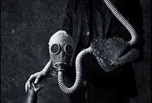 freak in gas mask