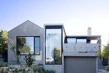 Concrete house exteriors