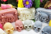 Creepy Demonic Soaps / Here is something freaky that will keep your fresh, literally. These supernatural soaps were created by Canadian artist Eden Gorgós.  His 'Art of Dying' soaps features macabre ghosts, ghouls, and human skulls. You'll also find handcrafted lotions and candles as well as vintage Vanitas bar soaps in his Memento Mori collection.