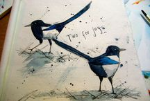 Birds in Ink / by Michelle Campbell Art