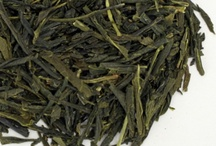 Green Teas (Dry Leaf) / Most Green Teas come from either Japan or China. Here is a collection of different styles of green tea. Pay attention to leaf size, color and shape, they play a large role in determining the flavor of the tea.  / by Golden Moon Tea