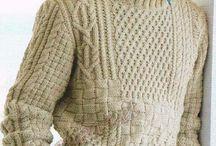 Knitting for man's