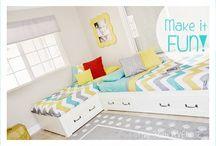 L shaped beds