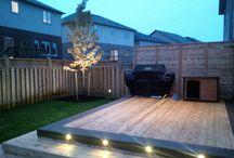 Landscape Lighting / Garden bed lighting, and outdoor living space lighting.