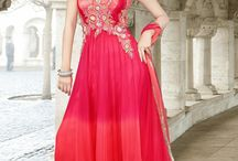 Online salwars / Pink Pale Pink Faux Georgette Long Length Anarkali ReadyMade Salwar Kameez Elegance And Honourable Come Together In This Beautiful Drape. Style And Trend Will Be At The Peak Of Your Beauty When You Attire This Fuchsia & Pale Fuchsia Faux Georgette Ready Made Salwar Kameez. Look Ravishing Clad In This Attire Which Is Enhanced Bead, Floral Patch, Gold Zardosi, Resham, Sequins, Silver Zardosi & Stones Work