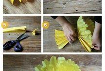 Flores papel china