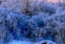 Winter landscape. Vinter landskap.