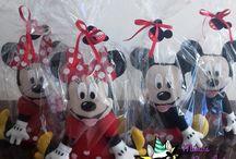 Mickey e Minnie em Feltro