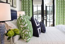 Navy and Green Bedroom