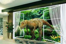 Papier peint sur mesure spécial dinosaure