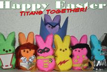 Nerdy Easter / Geeky Easter eggs and nerdy peeps abound.