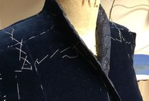 The Inside Story / Partly made garments showing all the stitching and work done that goes unseen on the inside