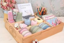 Craft Room Inspiration / Isn't there something just wonderful about craft rooms and craft storage!