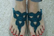 Crochet foot wear