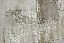 White textil & fiber art