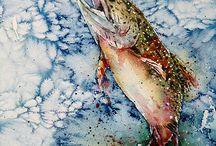 Акварель  - Рыбы